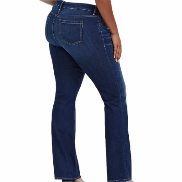 Torrid Relaxed Bootcut Stretch Dark Wash Jeans